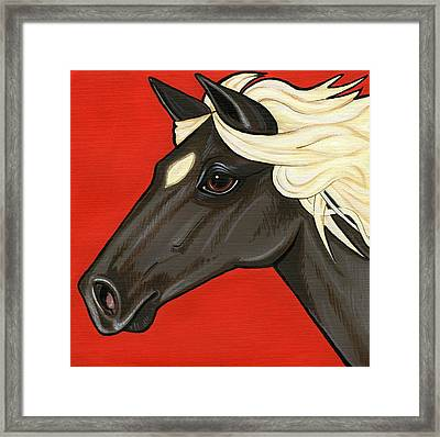 Rocky Mountain Pony Framed Print by Leanne Wilkes