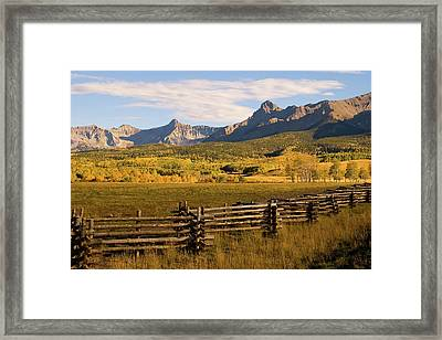 Rocky Mountain Ranch Framed Print