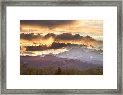 Rocky Mountain Springtime Sunset Framed Print