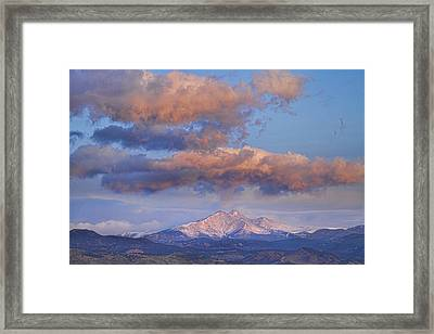 Rocky Mountain Sunrise Framed Print by James BO  Insogna