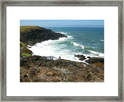 Rocky Ocean Coast Framed Print