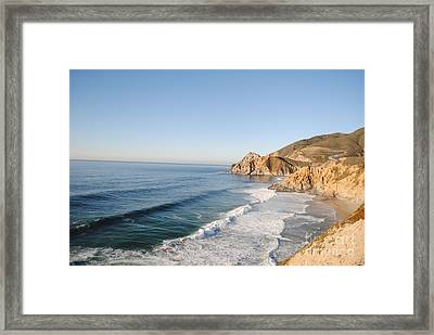 Rocky Pacific Coast Framed Print