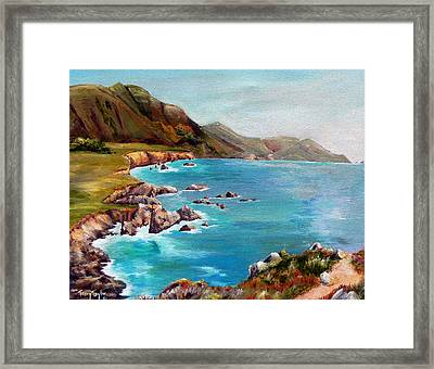 Rocky Point At Big Sur Framed Print