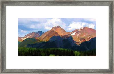 Rocky Red Mountains Framed Print
