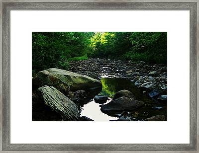 Rocky River Framed Print by Joyce Kimble Smith