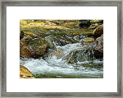Framed Print featuring the photograph Rocky River by Lydia Holly
