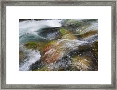 Rocky Riverbed Framed Print by Jenna Szerlag