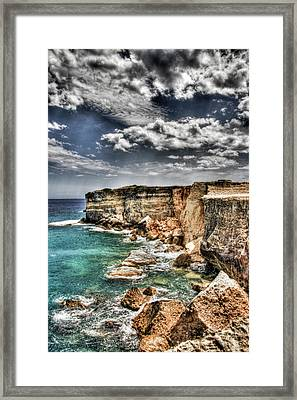 Framed Print featuring the photograph Rocky Salentu by Andrea Barbieri