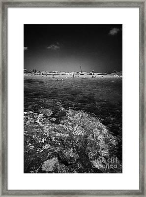 Rocky Shoreline At Nissi Beach Ayia Napa Republic Of Cyprus Europe Framed Print