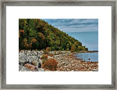 Framed Print featuring the photograph Rocky Shores by Rachel Cohen