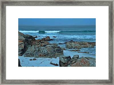Framed Print featuring the photograph Rocky Shores by Renee Hardison