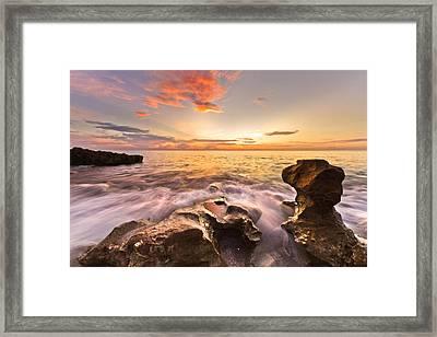 Rocky Surf Framed Print