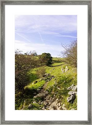 Rocky Terrain In Lathkill Dale Framed Print by Rod Johnson