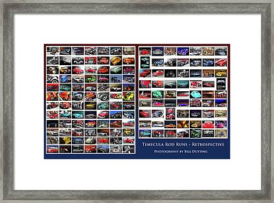 Framed Print featuring the photograph Rod Run Retrospective by Bill Dutting
