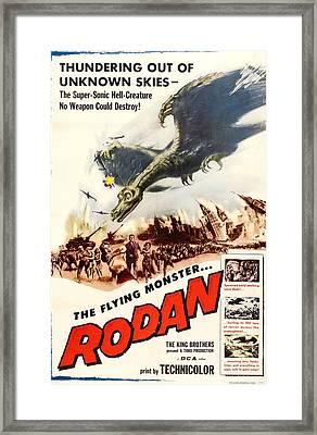 Rodan, 1957, Poster Art Framed Print
