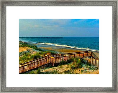 Rodanthe On The Outer Banks Framed Print by Julie Dant