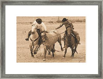 Rodeo Action Framed Print