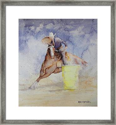 Rodeo Gal Two Framed Print