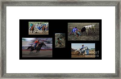Rodeo Magic No Caption Framed Print by Bob Christopher