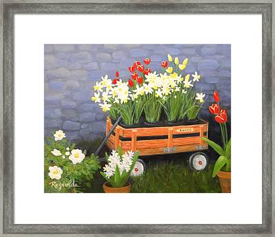 Rodeo Wagon Framed Print