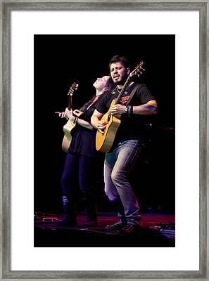 Rodrigo Y Gabriela Perform Framed Print