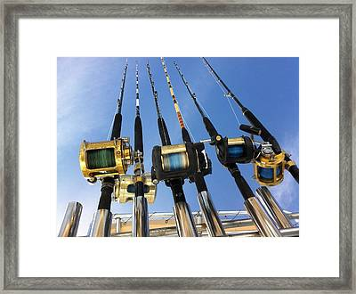 Rods Framed Print