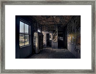 Roe - Graves House Kitchen Of Bannack Ghost Town - Montana Framed Print by Daniel Hagerman