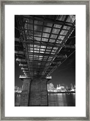 Roebeling Bridge Black And White Framed Print
