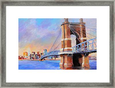 Roebling Twilight Framed Print