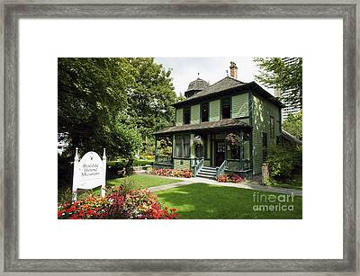 Roedde House Museum Vancouver Canada Framed Print by John  Mitchell