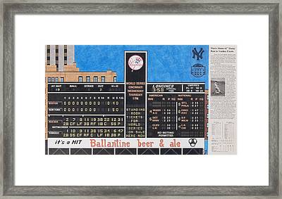 Roger Maris Hits Number 61 In 1961 Framed Print by Marc Yench
