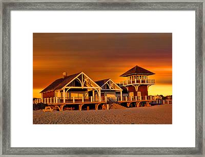 Roger W. Wheeler State Beach Framed Print by Lourry Legarde