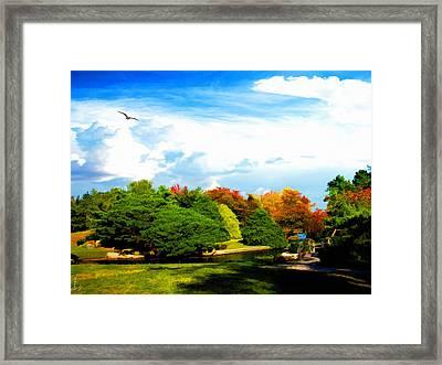 Roger Williams Park Japanese Garden Framed Print by Lourry Legarde