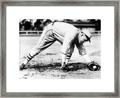 Rogers Hornsby (1896-1963) Framed Print by Granger