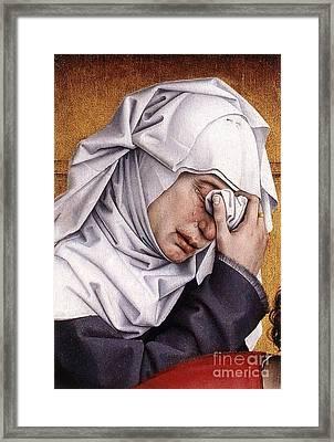 Rogier Van Der Weyden Desposition Framed Print by Pg Reproductions