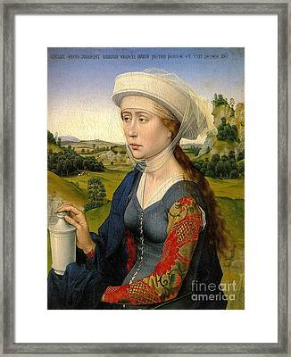 Rogier Van Der Weyden The Braque Triptych Framed Print by Pg Reproductions
