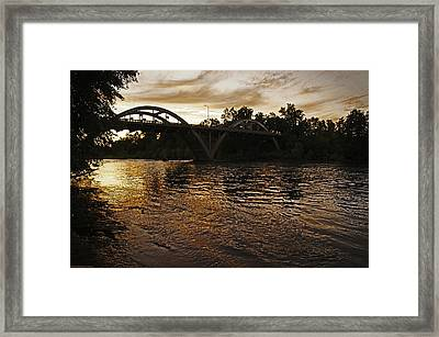 Rogue River Sunset Framed Print by Mick Anderson