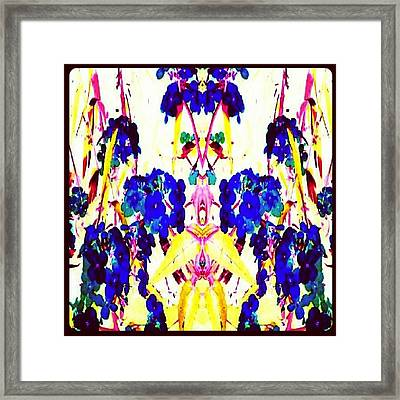 Rohrshach Flowers #abstract #android Framed Print