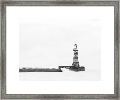 Roker Pier And Lighthouse, Sunderland, Uk Framed Print by Jason Friend Photography Ltd