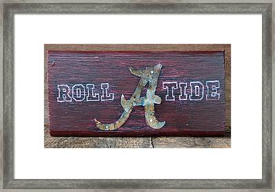 Roll Tide - Medium Framed Print by Racquel Morgan