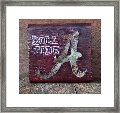 Roll Tide - Small Framed Print by Racquel Morgan