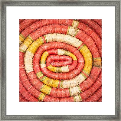 Rolled Fabric Framed Print by Tom Gowanlock