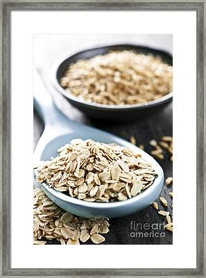 Rolled Oats And Oat Groats Framed Print