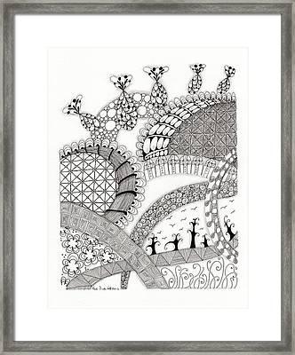 Roller Coaster Framed Print by Paula Dickerhoff