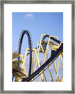 Roller Coaster Track Framed Print by Skip Nall