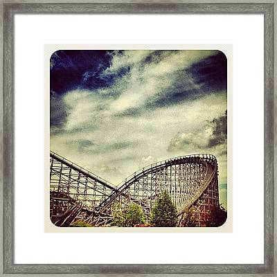 Roller Coaster troy Framed Print