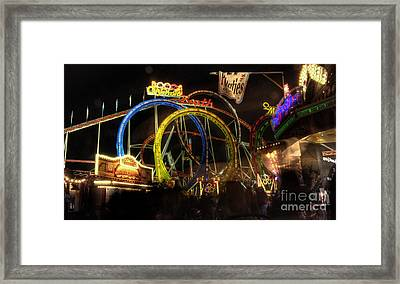 Rollercoaster At The Dom Framed Print by Rob Hawkins