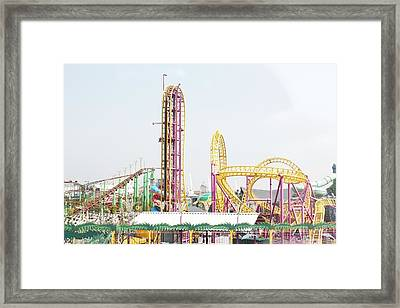 Rollercoaster Framed Print by Thenakedsnail