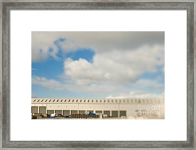 Rolling Doors Of A Warehouse Framed Print