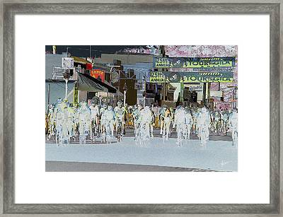 Framed Print featuring the photograph Rolling Down Bullard Street by Vicki Pelham